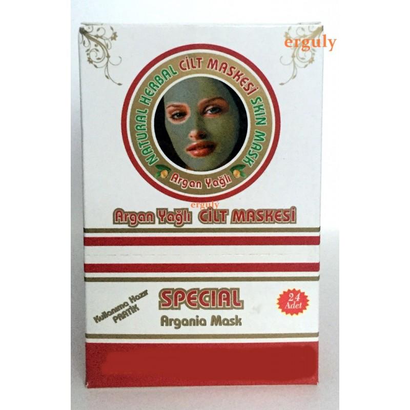 Argan Yağlı Cilt Maskesi 24 adet