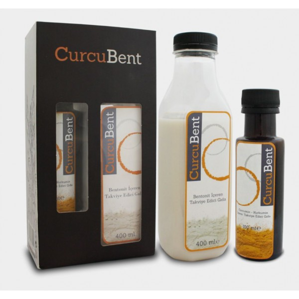 Medikil Curcubent Bentonitli Curcumin Bentonit Sıvı 400 ml ve Curcumin 100 ml
