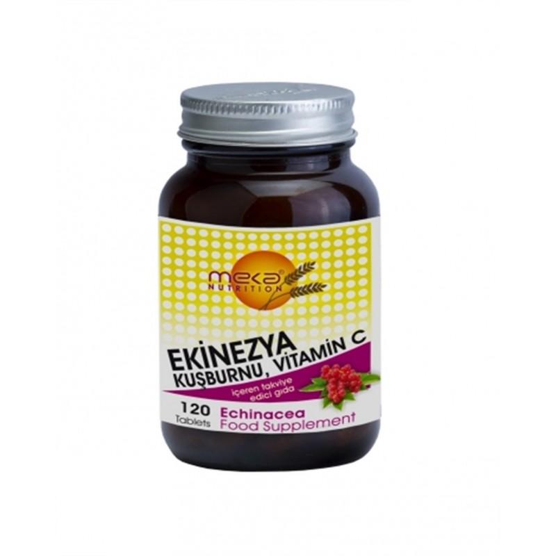 Meka Nutrition Ekinezya Kuşburnu ve Vitamin C 120 Tablet
