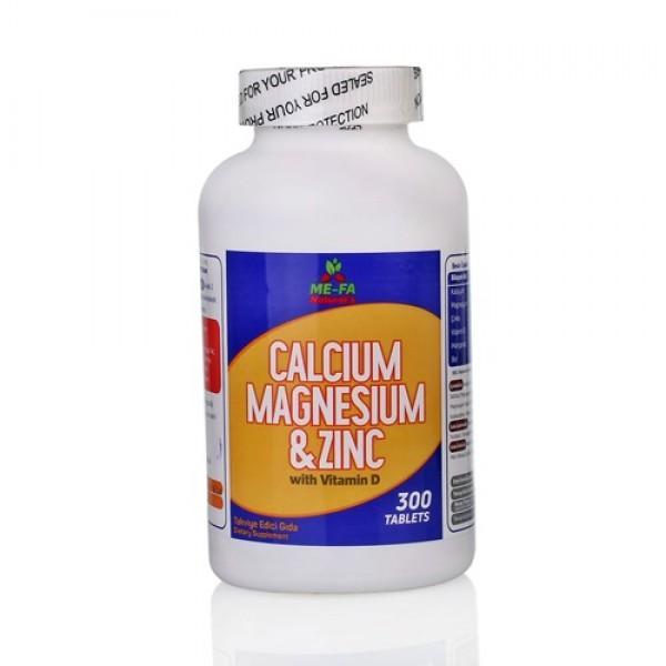 Mefa Naturals Calcium Magnesium Zinc Vitamin D 3 300 Tablet