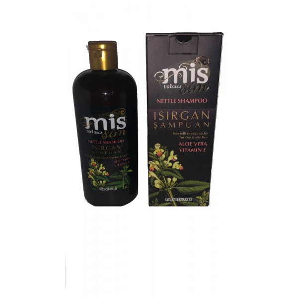 Mis Baharat Isırgan Şampuan Aloe Vera Vitamin E Paraben İçermez 400 ml