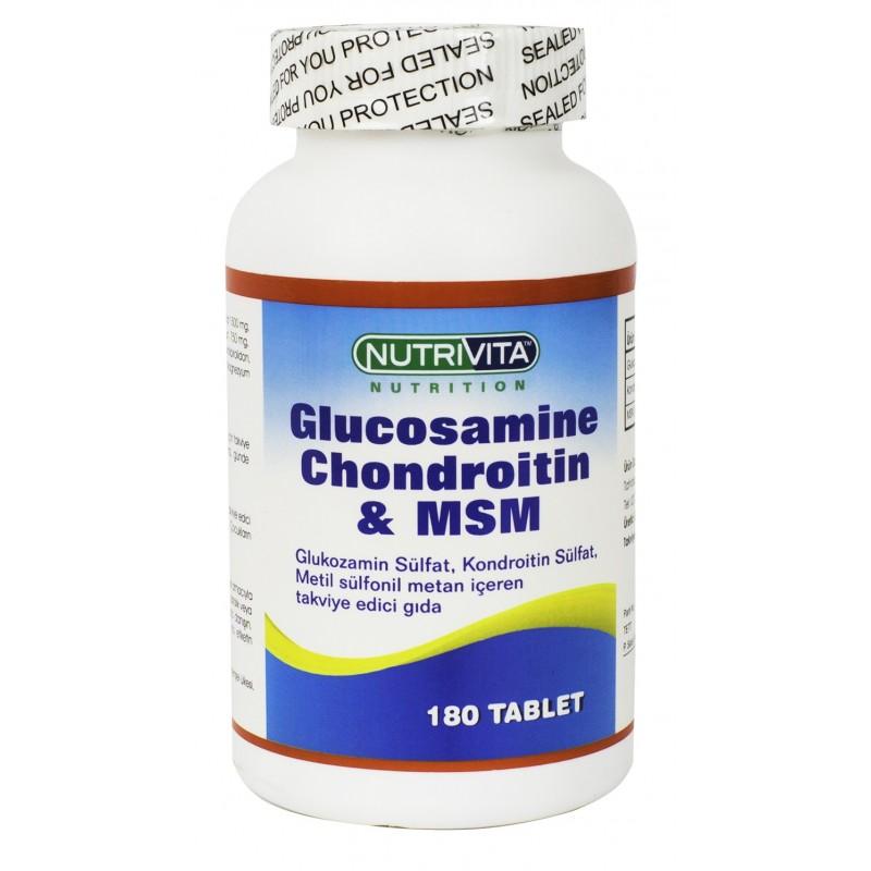 Nutrivita Nutrition Glucosamine Chondroitin Msm 180 tablet